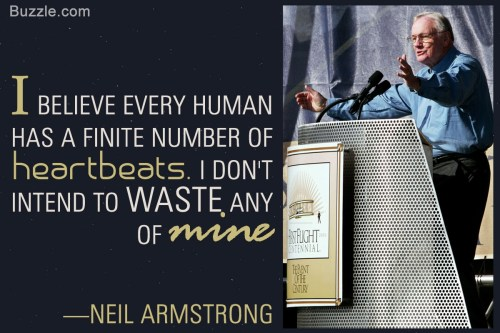 Neil Armstrong Heartbeats Quote