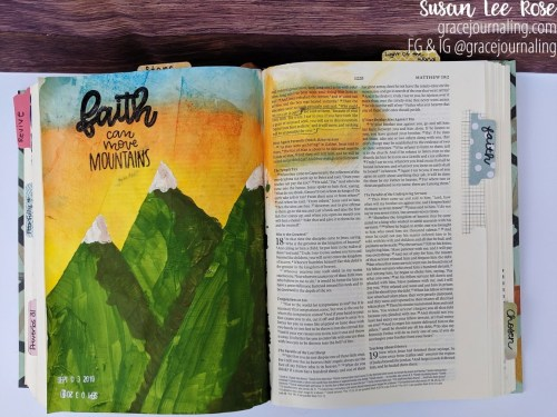 Grace Journaling - Faith Can Move Mountains