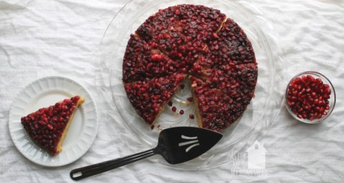 Pomegranate Upside Down Cake