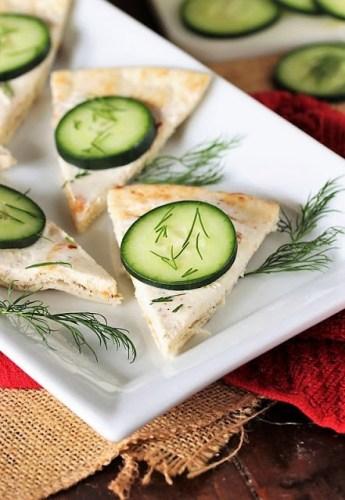 Cucumber Pita Bites