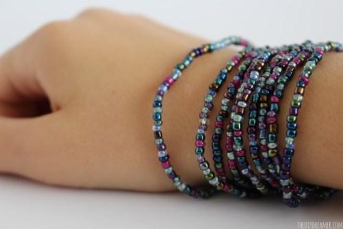 DIY Glass Bead Wrap Bracelet