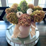 Fall Hydrangea Floral Arrangement