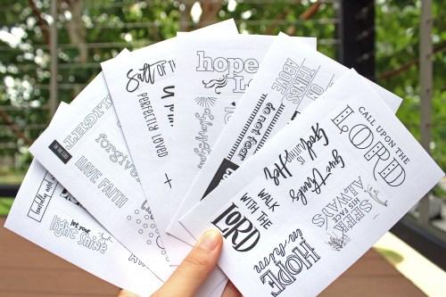 Beautiful Word For Girls Bible Gift Set Sticker Sheets