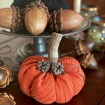 Upcycled Fabric Pumpkins