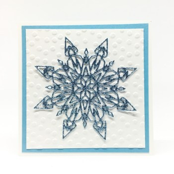 A Trio of Snowflakes Card