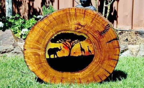 Wooden Suncatcher