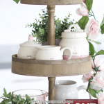 Pretty Tiered Trays For Spring