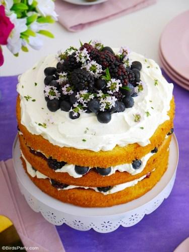 Lemon-Berries-Cake