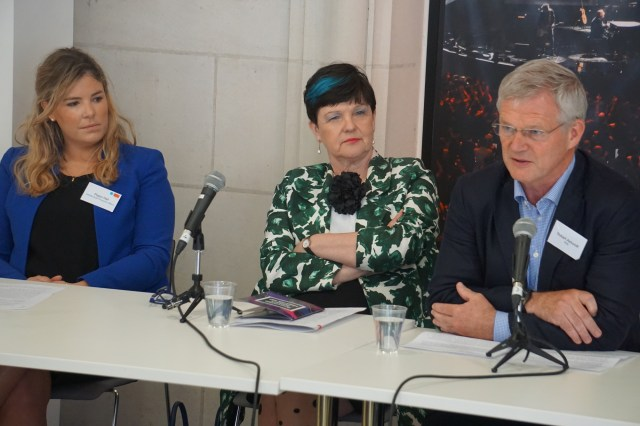 Left to right: Pippa Hall, Baroness Neville-Rolfe, Robert Ashcroft