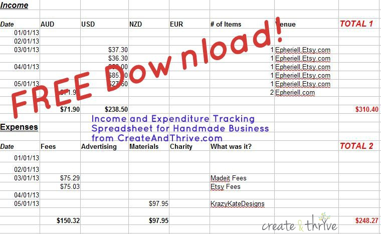 Income & expenditure template
