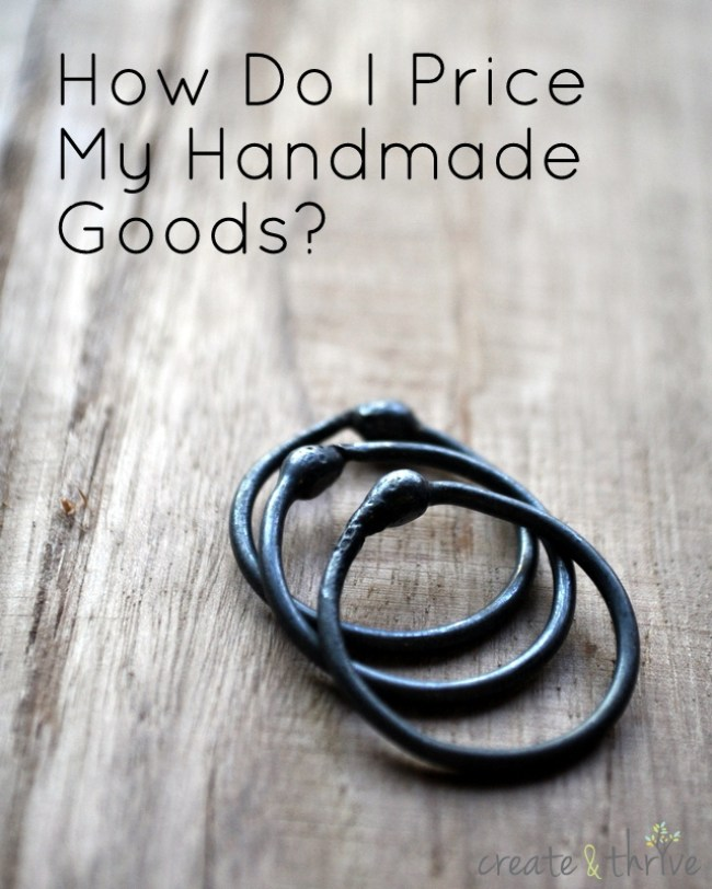 how do I price my handmade goods