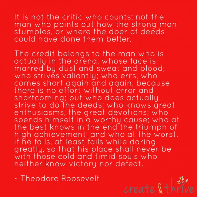 Theodore Roosevelt - In the Arena - Low Res for Internet