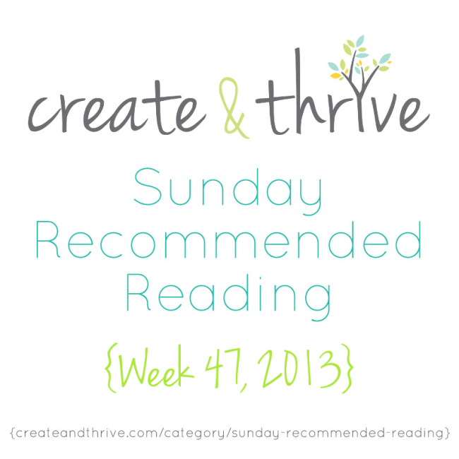C&T Recommended Reading Week 47 2013