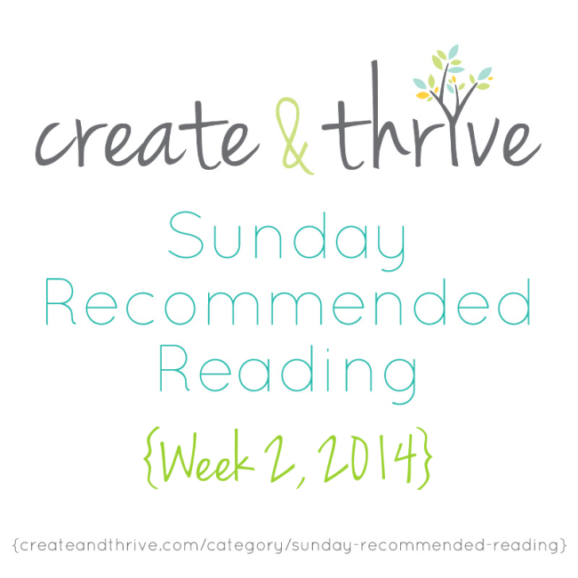 C&T Recommended Reading Week 2, 2014