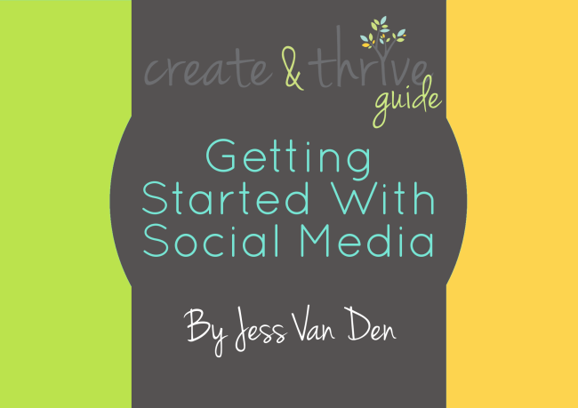Create & Thrive Ebook Cover Getting Started With Social Media
