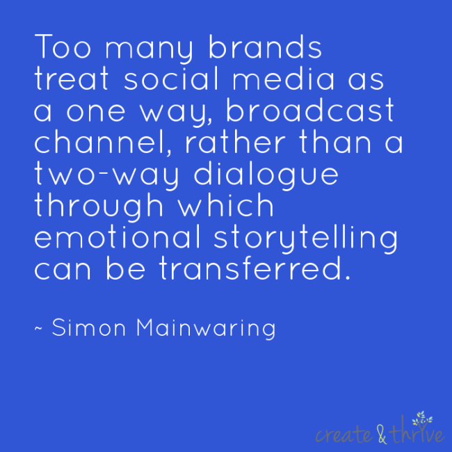 Simon Mainwarning on Social Media as Storytelling