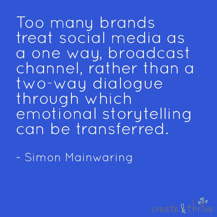 Simon Mainwarning on Social Media as Storytelling