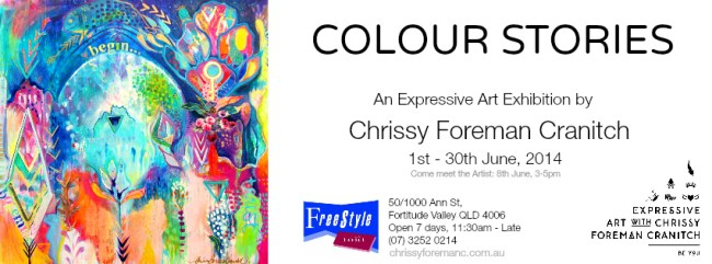 Colour Stories_exhibition invite_with meet the artist