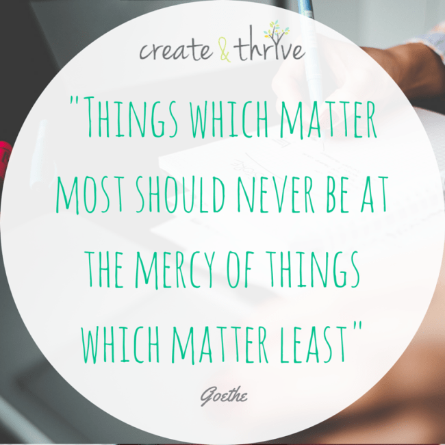 Things which matter - Goethe Quote