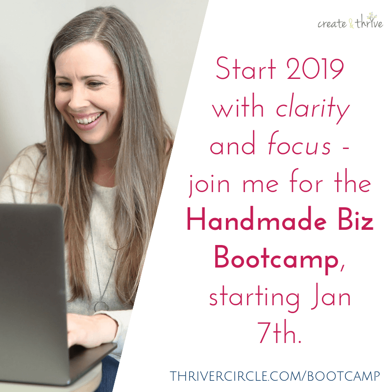 Kick-Start 2019 with the Handmade Business Bootcamp!