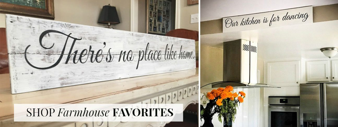 Farmhouse Favorites | Reclaimed Wood Signs | Slider