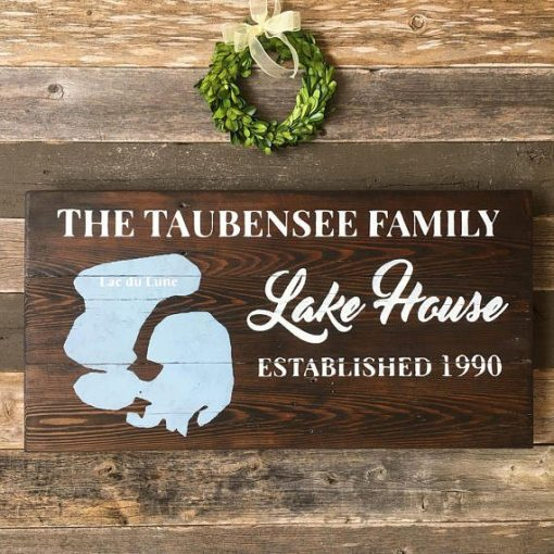 Lake House Custom Family Name | Reclaimed Wood Sign