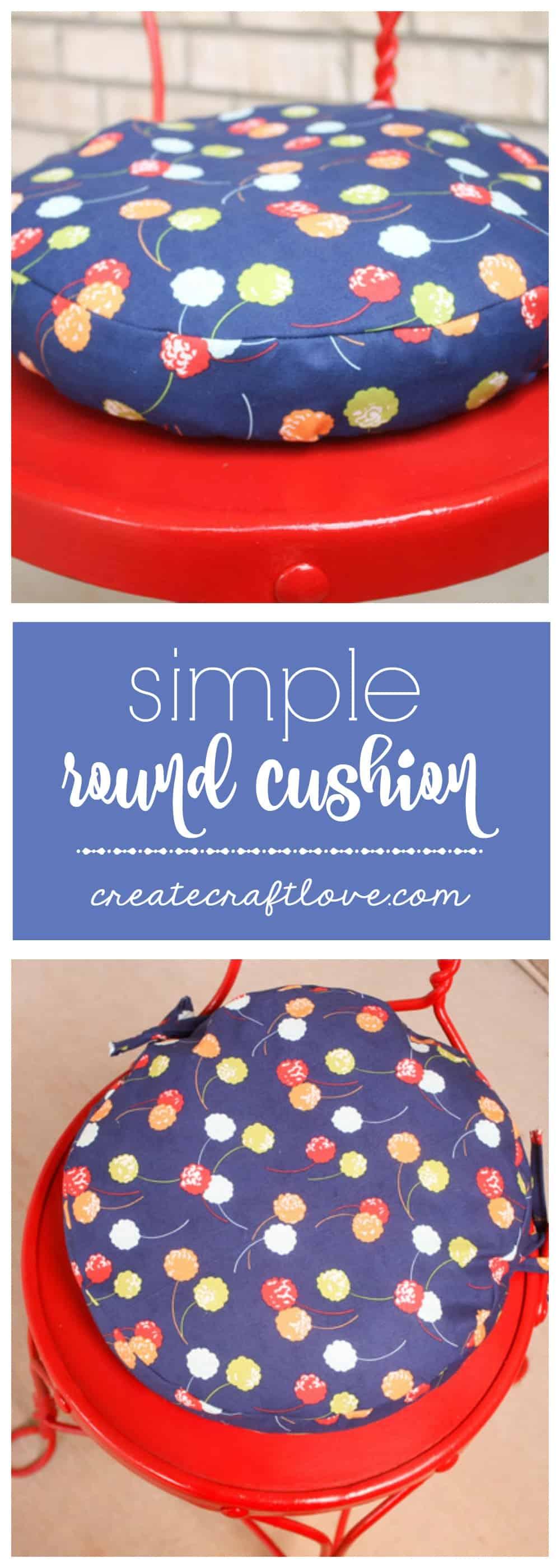 Simple Round Cushion Tutorial