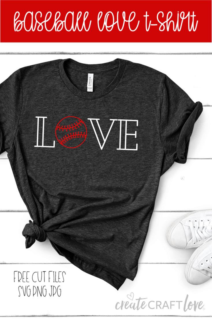 Download Baseball Love Shirt | Free SVG File - Create Craft Love