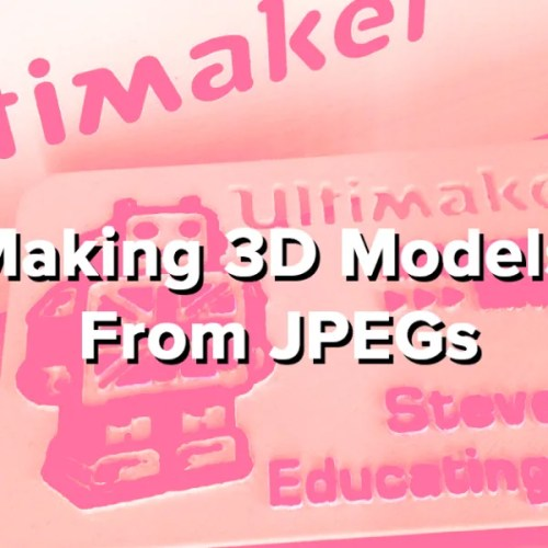 Making 3D Models From JPEGs