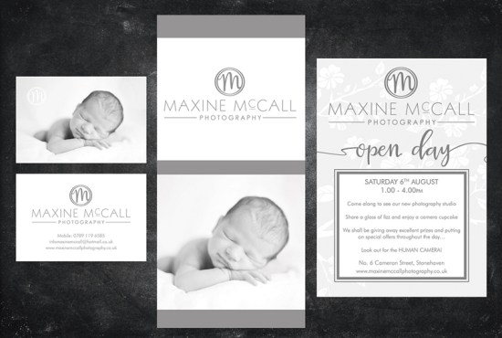Maxine McCall Photography business stationery