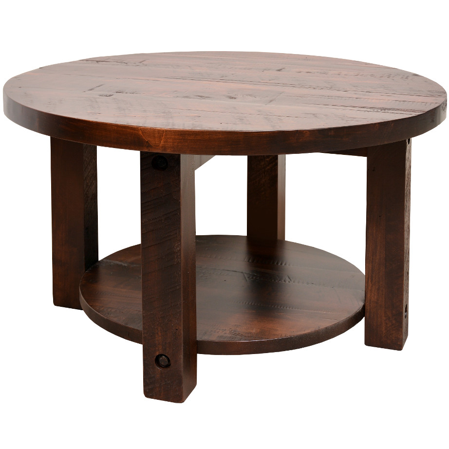 adirondack round coffee table solid