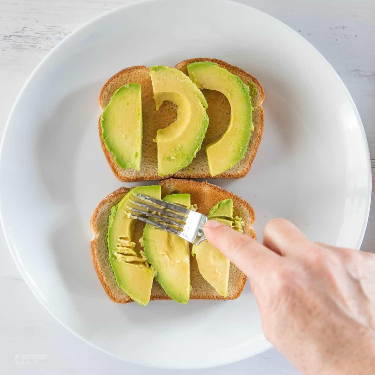 avocado slices on bread