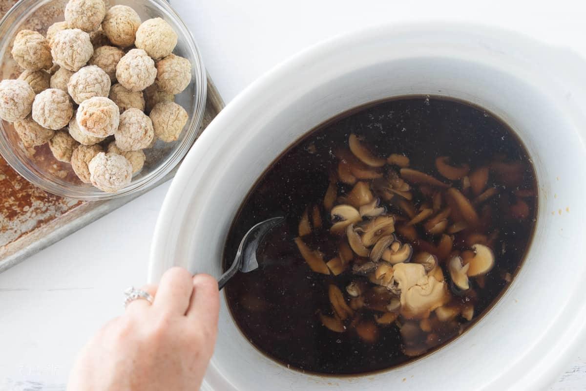 ingredients for swedish meatballs in crockpot