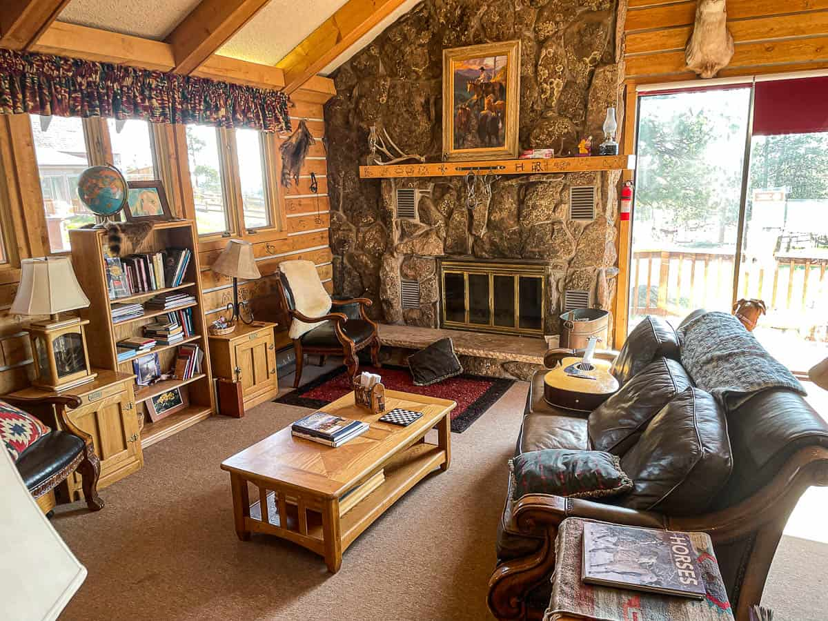 living room of a cabin