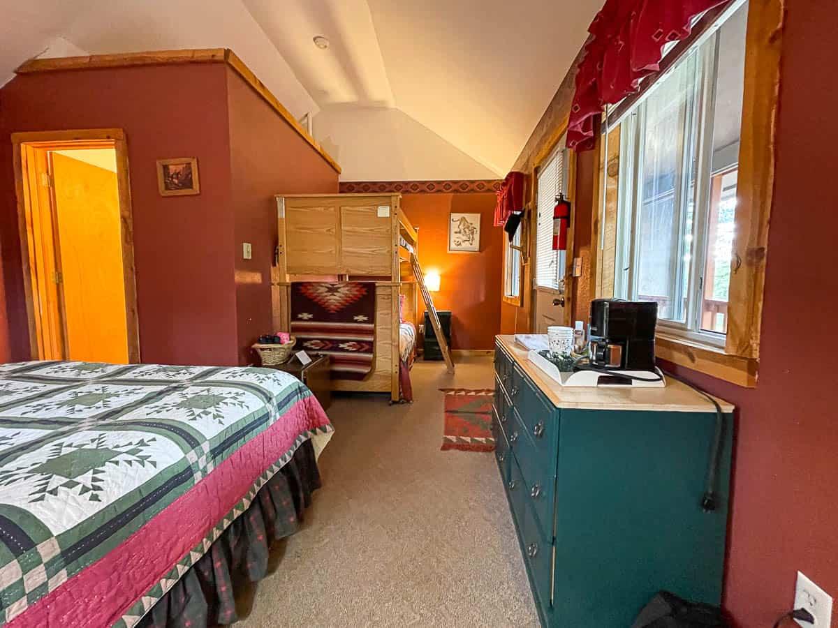 bedroom in a cabin