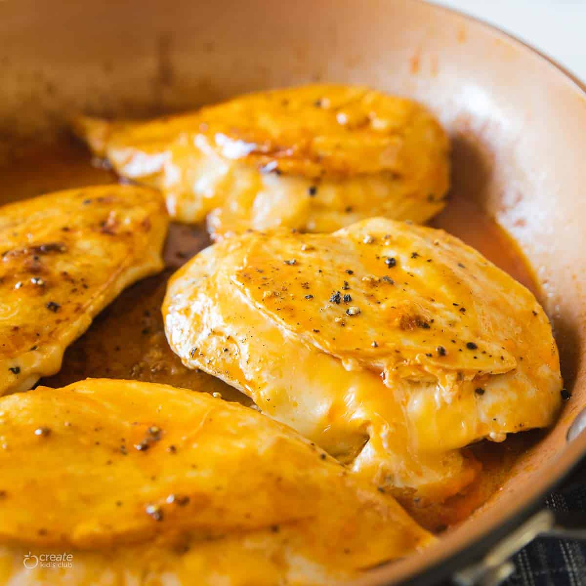 buffalo chicken breasts cooked in pan