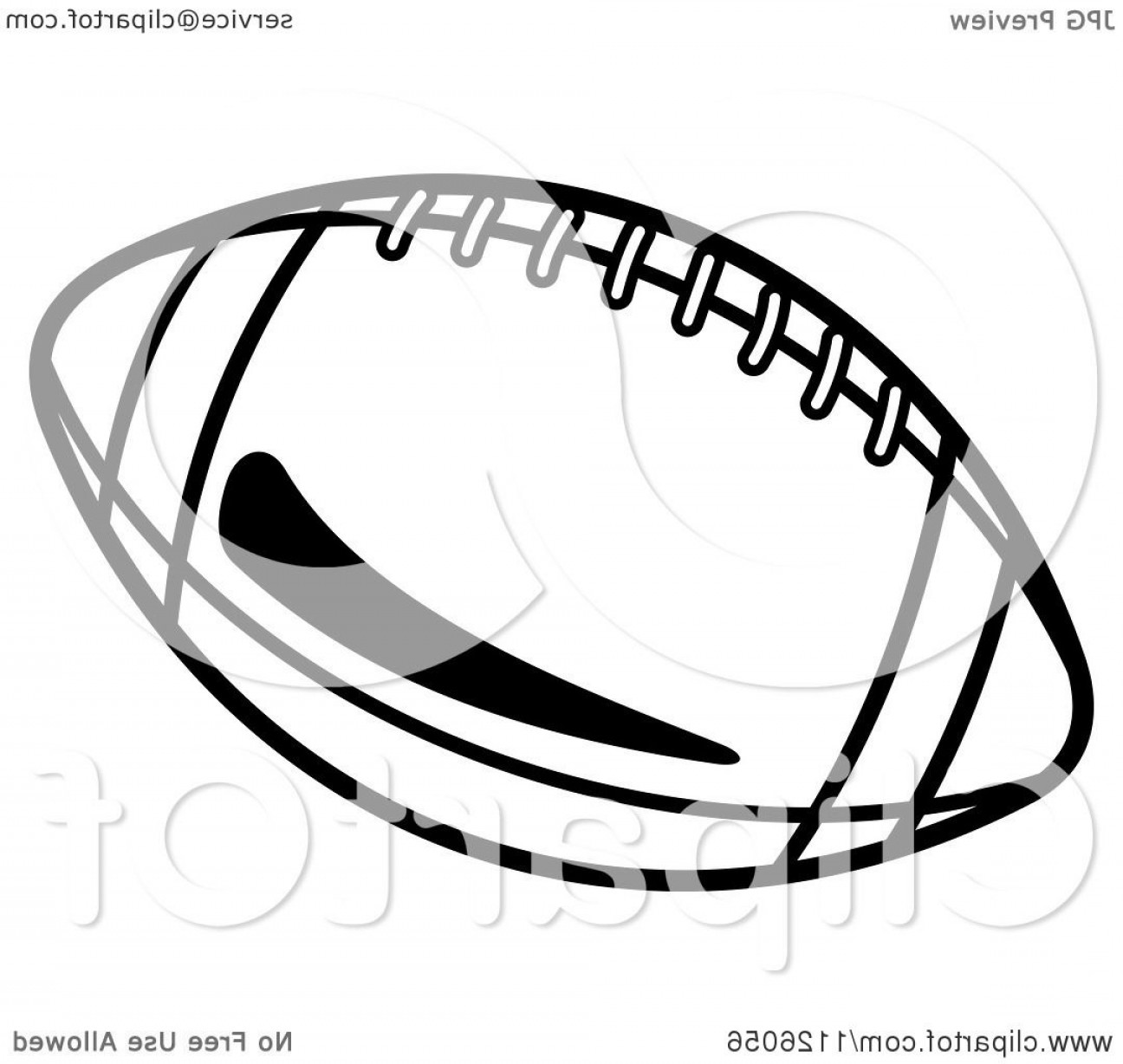Black And White Vector American Football