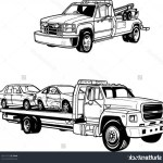 Flatbed Truck Clipart Flatbed Tow Truck Clipart Stock Vector Vector Tow Trucks Createmepink