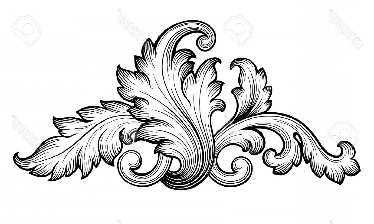 Baroque Vector Clip Art
