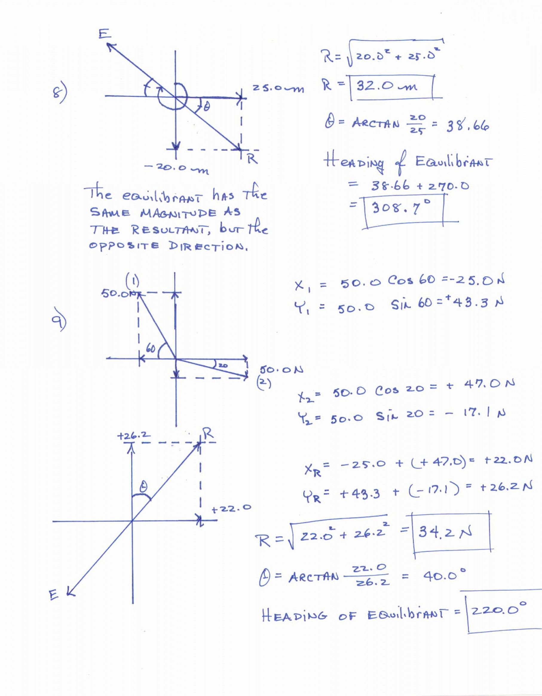 Vector Addition Worksheet With Answers