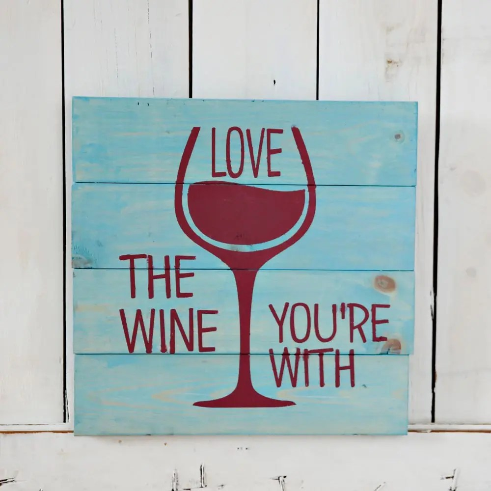 Download Love the Wine You're With Square - Stencil   Create Space ...