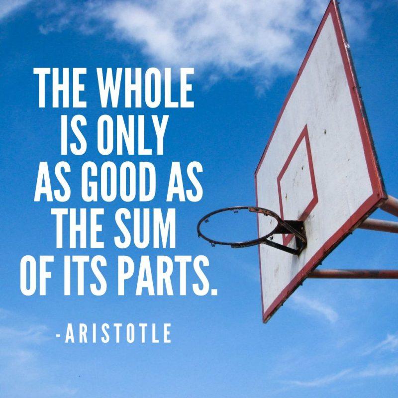 Aristotle quote sum of its parts