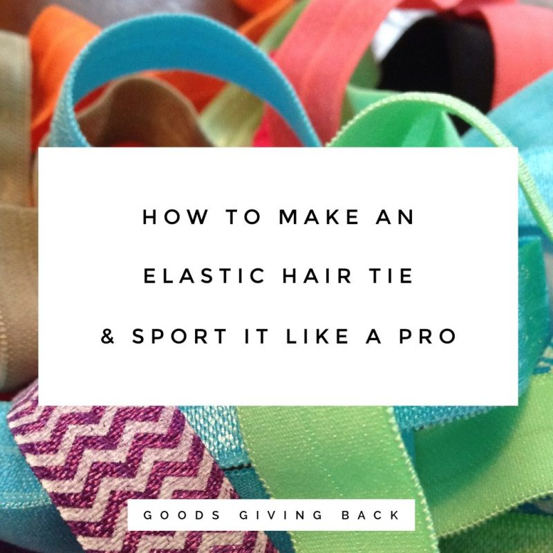 How to make an elastic hair tie