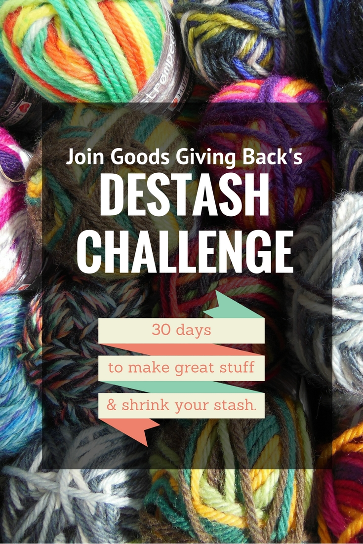 Goods Giving Back's 30-Day Destash Challenge