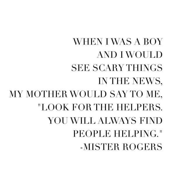 Inspirational quote from Mr. Rogers