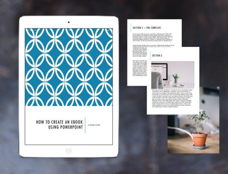 Powerpoint ebook mock-up