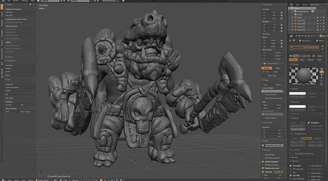 """Dark Blender, optimisé pour la création d'assets et le sculpt <span class=""""caps"""">3D</span>"""