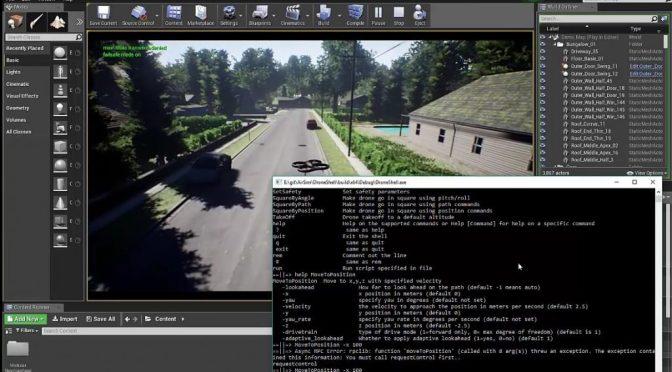 """AirSim: un simulateur de drone sous <span class=""""caps"""">UE4</span> couplé à Pixhawk"""