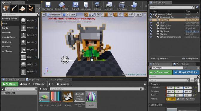 """<span class=""""caps"""">UE4</span> et MagicaVoxel: un duo sympathique pour faire des jeux <span class=""""caps"""">3D</span> au look """"8 bits"""""""