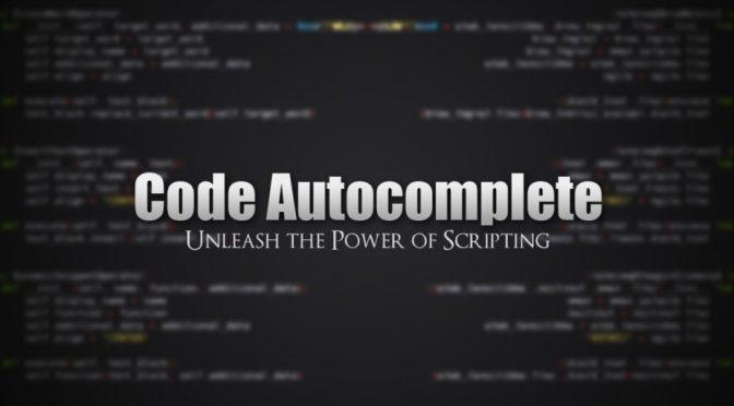 """Blender: Scripting Python <span class=""""amp"""">&</span> auto-complétion"""